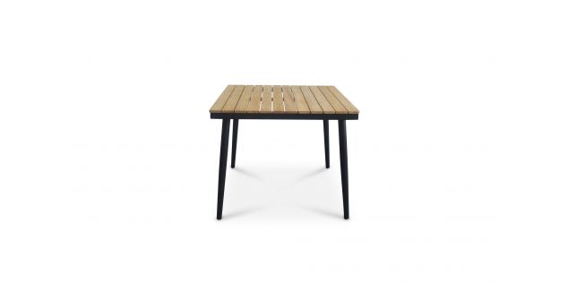 Benton Aluminum Teak Wood Square Table