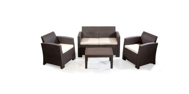 Kelly 4pc Plastic Outdoor Sofa Set