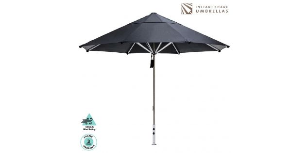 CAFÉ SERIES COMMERCIAL UMBRELLA with base and protection cover - 2.8M SQ Slate
