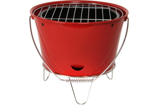 SOMAGIC BUCKET TABLE TOP CHARCOAL BARBECUE RED