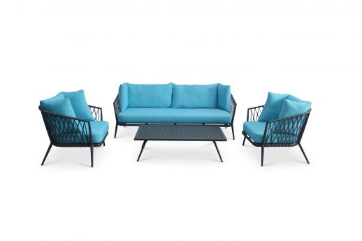 Patten 4 Seater Rope Sofa Set