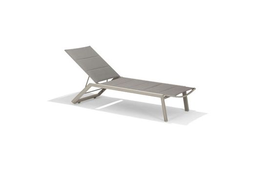 Chic Reclining Sun Lounger - Champagne