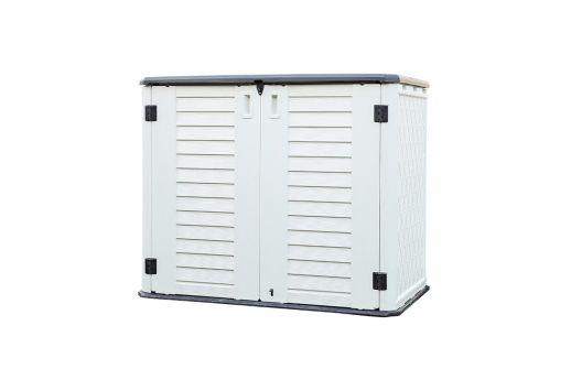 Outdoor HDPE Horizontal Split Lid Storage Shed