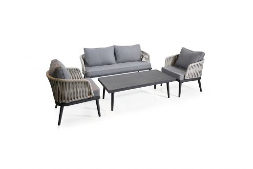 Prestington 4 Seater Rattan Effect Sofa Set