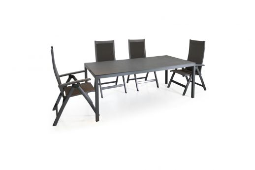 Savannah Aluminum Rect Dining Set