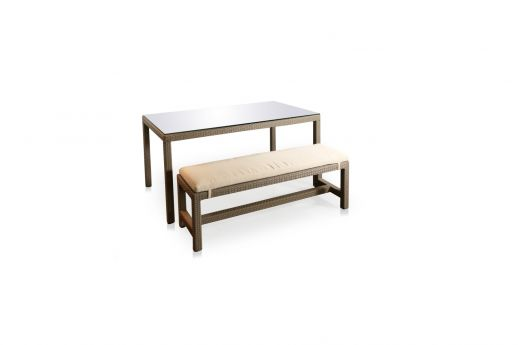 Maxim Rattan Dining Bench Set