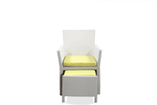 Montana Rattan Lounge Chair with Ottoman