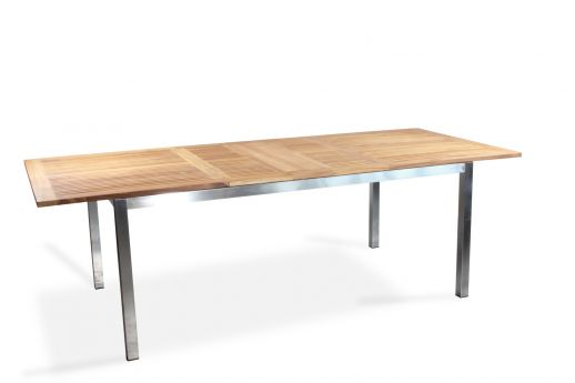 Millstone Extendable Stainless Steel and Teak Dining Table