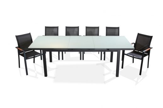 Carlo Aluminum 8 Seater Dining Set