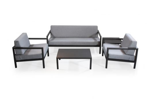 Dawson 5 Seater Alum Sofa Set