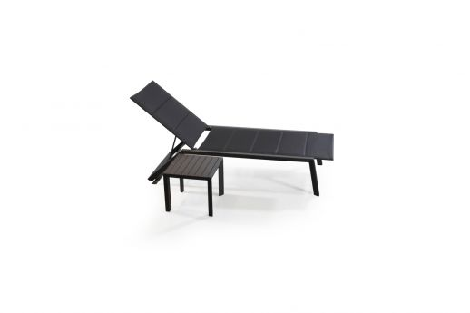 Chic Reclining Sun Lounger Set - Black